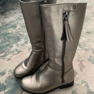 Tucker+Tate silver girls high boots size 13